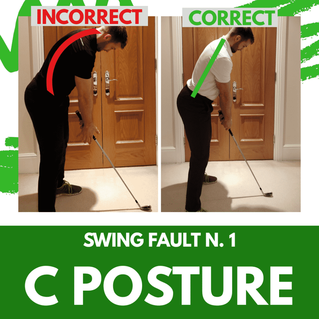 Swing Fault 1 - C posture.