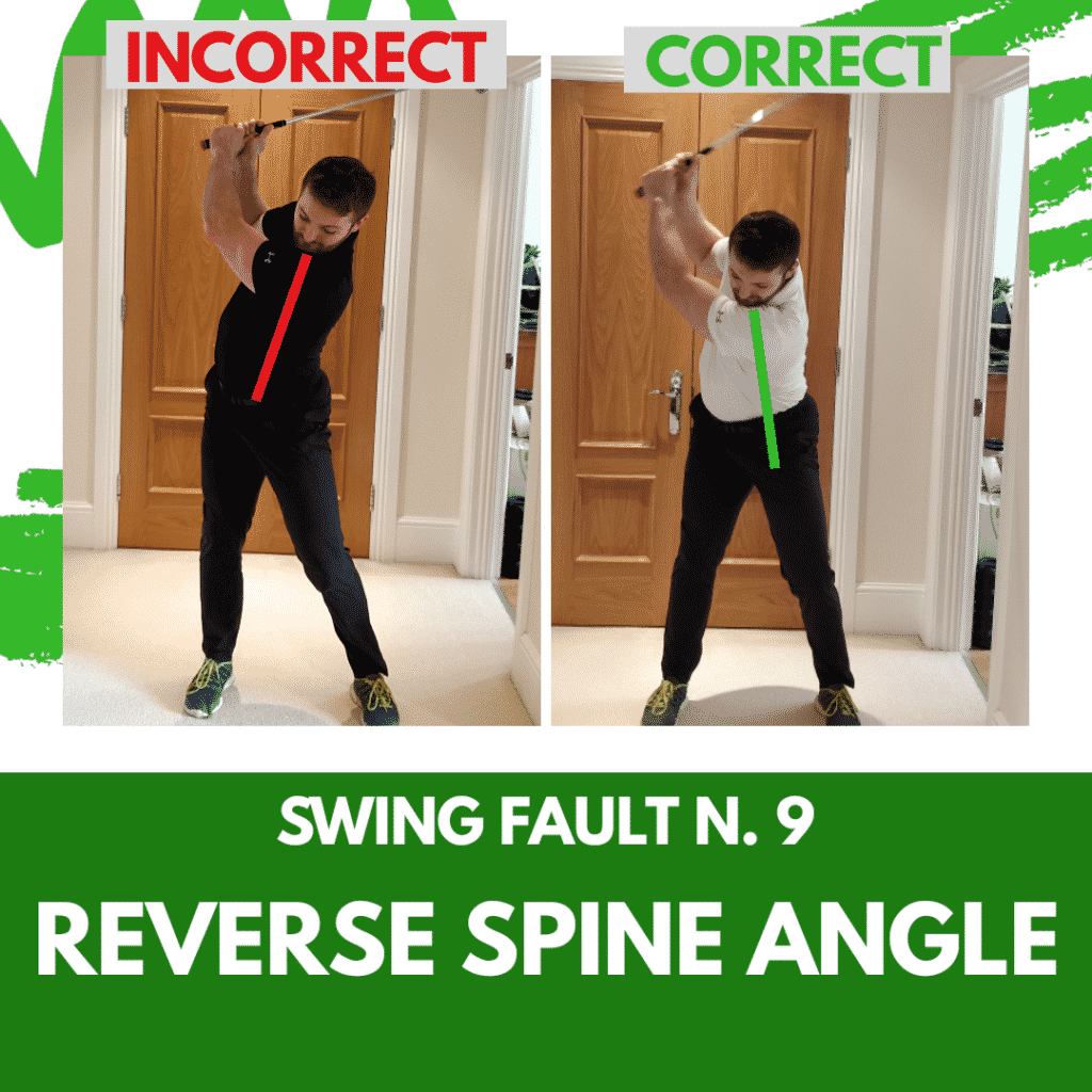 Swing Fault 9 - Reverse Spine Angle
