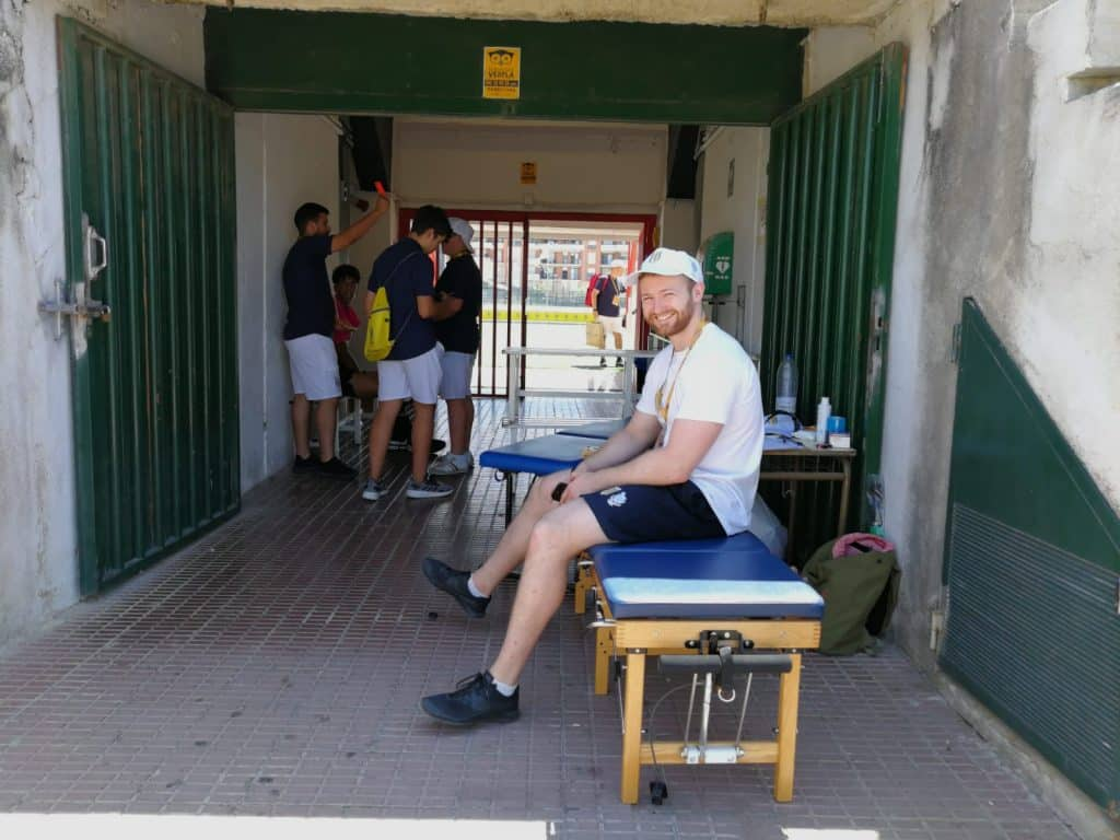 Josh French, sports chiropractor about to start treating athletes.